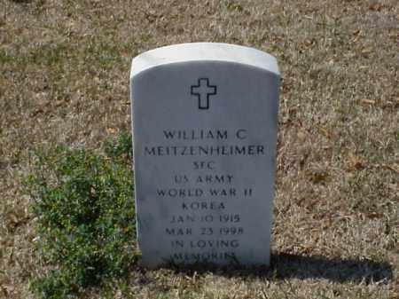 MEITZENHEIMER (VETERAN 2 WARS), WILLIAM C - Pulaski County, Arkansas | WILLIAM C MEITZENHEIMER (VETERAN 2 WARS) - Arkansas Gravestone Photos