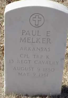 MELKER  (VETERAN), PAUL E - Pulaski County, Arkansas | PAUL E MELKER  (VETERAN) - Arkansas Gravestone Photos