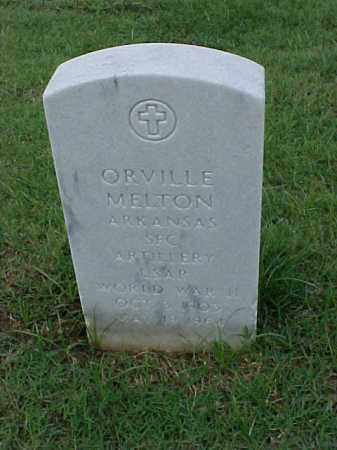 MELTON (VETERAN WWII), ORVILLE - Pulaski County, Arkansas | ORVILLE MELTON (VETERAN WWII) - Arkansas Gravestone Photos