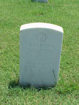 MELTON (VETERAN WWII), VERNON - Pulaski County, Arkansas | VERNON MELTON (VETERAN WWII) - Arkansas Gravestone Photos