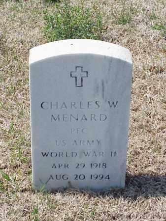 MENARD (VETERAN WWII), CHARLES W - Pulaski County, Arkansas | CHARLES W MENARD (VETERAN WWII) - Arkansas Gravestone Photos