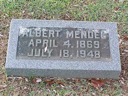 MENDEL, ALBERT - Pulaski County, Arkansas | ALBERT MENDEL - Arkansas Gravestone Photos