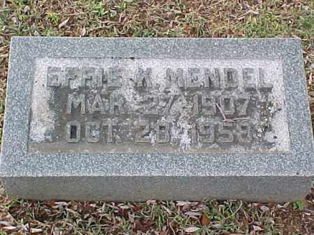 MENDEL, EFFIE K - Pulaski County, Arkansas | EFFIE K MENDEL - Arkansas Gravestone Photos