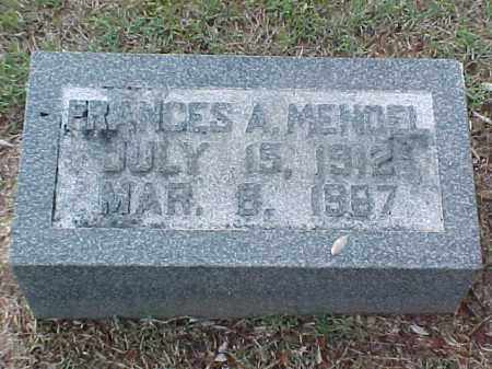 MENDEL, FRANCES A - Pulaski County, Arkansas | FRANCES A MENDEL - Arkansas Gravestone Photos