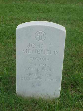 MENEFIELD (VETERAN WWI), JOHN T - Pulaski County, Arkansas | JOHN T MENEFIELD (VETERAN WWI) - Arkansas Gravestone Photos
