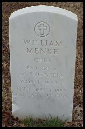 MENKE (VETERAN WWI), WILLIAM - Pulaski County, Arkansas | WILLIAM MENKE (VETERAN WWI) - Arkansas Gravestone Photos