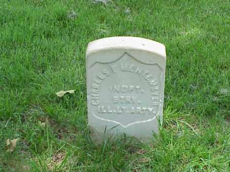 MENTEMEYER (VETERAN UNION), CHARLES F - Pulaski County, Arkansas   CHARLES F MENTEMEYER (VETERAN UNION) - Arkansas Gravestone Photos
