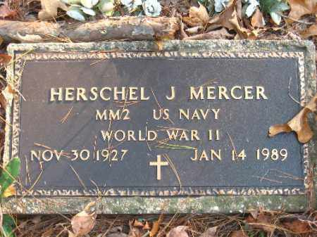 MERCER (VETERAN WWII), HERSCHEL J - Pulaski County, Arkansas | HERSCHEL J MERCER (VETERAN WWII) - Arkansas Gravestone Photos