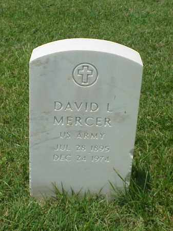 MERCER (VETERAN WWI), DAVID L - Pulaski County, Arkansas | DAVID L MERCER (VETERAN WWI) - Arkansas Gravestone Photos