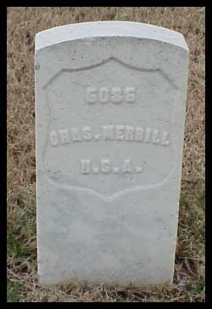 MERRILL (VETERAN UNION), CHARLES - Pulaski County, Arkansas | CHARLES MERRILL (VETERAN UNION) - Arkansas Gravestone Photos