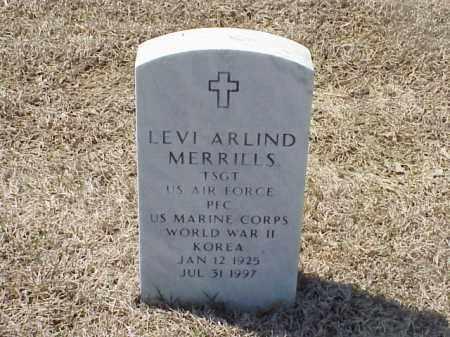 MERRILLS (VETERAN 2 WARS), LEVI ARLIND - Pulaski County, Arkansas | LEVI ARLIND MERRILLS (VETERAN 2 WARS) - Arkansas Gravestone Photos