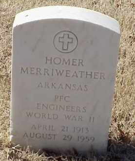 MERRIWEATHER  (VETERAN WWII), HOMER - Pulaski County, Arkansas | HOMER MERRIWEATHER  (VETERAN WWII) - Arkansas Gravestone Photos