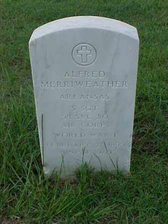 MERRIWEATHER (VETERAN WWI), ALFRED - Pulaski County, Arkansas | ALFRED MERRIWEATHER (VETERAN WWI) - Arkansas Gravestone Photos