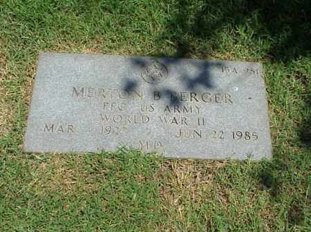 BERGER (VETERAN WWII), MERTON B - Pulaski County, Arkansas | MERTON B BERGER (VETERAN WWII) - Arkansas Gravestone Photos