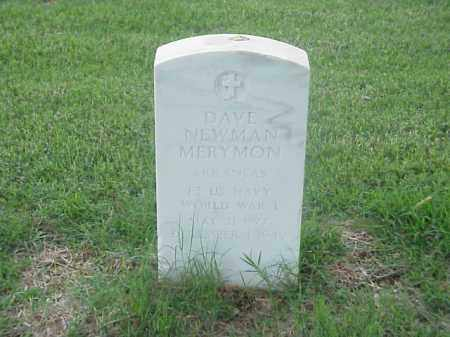 MERYMON (VETERAN WWI), DAVE NEWMAN - Pulaski County, Arkansas | DAVE NEWMAN MERYMON (VETERAN WWI) - Arkansas Gravestone Photos