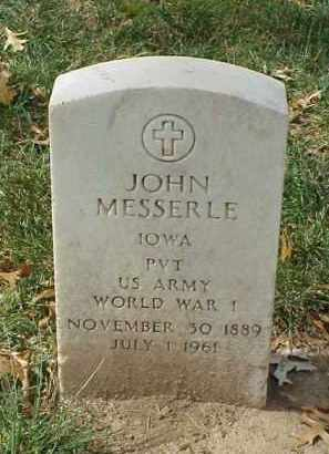 MESSERLE (VETERAN WWI), JOHN - Pulaski County, Arkansas | JOHN MESSERLE (VETERAN WWI) - Arkansas Gravestone Photos