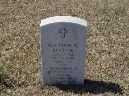 MEYER, MAXINE C - Pulaski County, Arkansas | MAXINE C MEYER - Arkansas Gravestone Photos