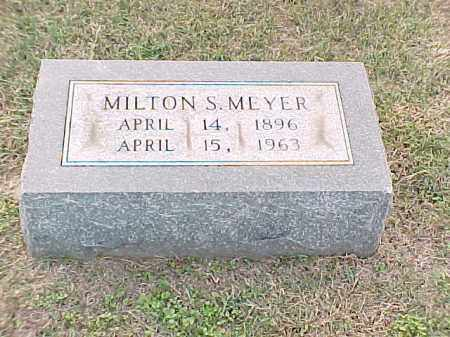MEYER, MILTON S - Pulaski County, Arkansas | MILTON S MEYER - Arkansas Gravestone Photos