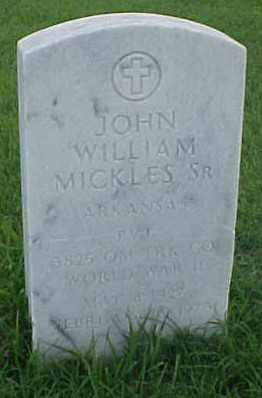 MICKLES, SR. (VETERAN WWII), JOHN WILLIAM - Pulaski County, Arkansas | JOHN WILLIAM MICKLES, SR. (VETERAN WWII) - Arkansas Gravestone Photos