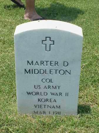 MIDDLETON (VETERAN 3 WARS), MARTER D - Pulaski County, Arkansas | MARTER D MIDDLETON (VETERAN 3 WARS) - Arkansas Gravestone Photos