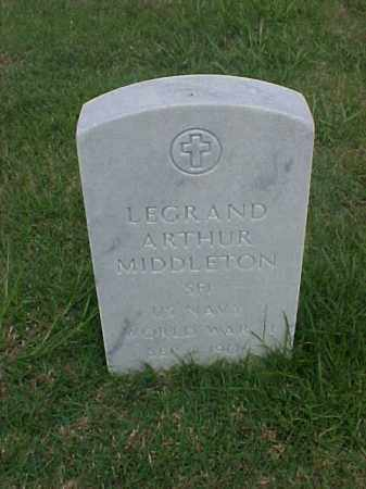 MIDDLETON (VETERAN WWII), LEGRAND ARTHUR - Pulaski County, Arkansas | LEGRAND ARTHUR MIDDLETON (VETERAN WWII) - Arkansas Gravestone Photos