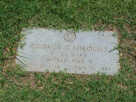 MIKOLEIT (VETERAN WWII), GEORGE C - Pulaski County, Arkansas | GEORGE C MIKOLEIT (VETERAN WWII) - Arkansas Gravestone Photos