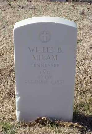 MILAM (VETERAN WWI), WILLIE B - Pulaski County, Arkansas | WILLIE B MILAM (VETERAN WWI) - Arkansas Gravestone Photos
