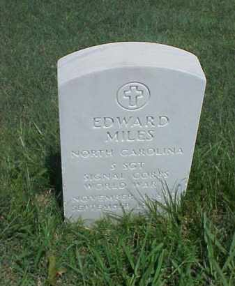 MILES (VETERAN WWI), EDWARD - Pulaski County, Arkansas | EDWARD MILES (VETERAN WWI) - Arkansas Gravestone Photos