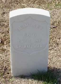 MILLER  (VETERAN SAW), FREDERICK E - Pulaski County, Arkansas | FREDERICK E MILLER  (VETERAN SAW) - Arkansas Gravestone Photos