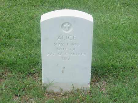MILLER, ALICE - Pulaski County, Arkansas | ALICE MILLER - Arkansas Gravestone Photos
