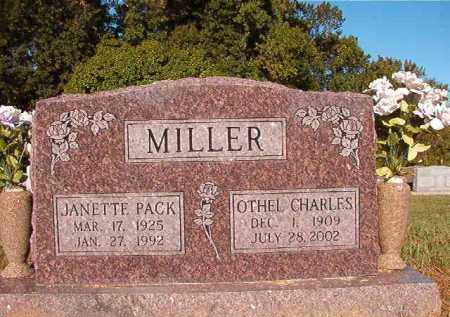 PACK MILLER, JANETTE - Pulaski County, Arkansas | JANETTE PACK MILLER - Arkansas Gravestone Photos