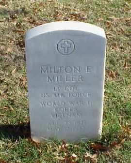 MILLER (VETERAN 3 WARS), MILTON E - Pulaski County, Arkansas | MILTON E MILLER (VETERAN 3 WARS) - Arkansas Gravestone Photos