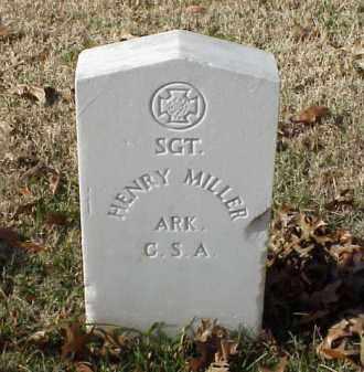 MILLER (VETERAN CSA), HENRY - Pulaski County, Arkansas | HENRY MILLER (VETERAN CSA) - Arkansas Gravestone Photos