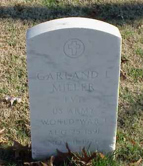MILLER (VETERAN WWI), GARLAND L - Pulaski County, Arkansas | GARLAND L MILLER (VETERAN WWI) - Arkansas Gravestone Photos