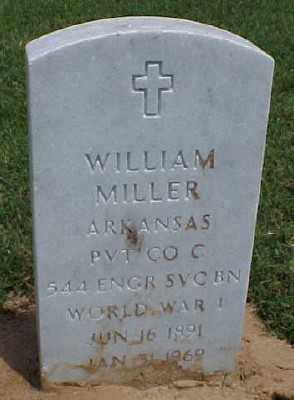 MILLER (VETERAN WWI), WILLIAM - Pulaski County, Arkansas | WILLIAM MILLER (VETERAN WWI) - Arkansas Gravestone Photos