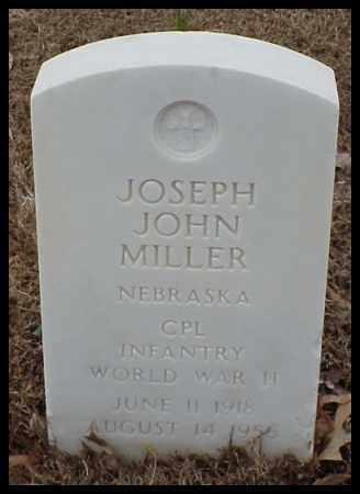 MILLER (VETERAN WWII), JOSEPH JOHN - Pulaski County, Arkansas | JOSEPH JOHN MILLER (VETERAN WWII) - Arkansas Gravestone Photos