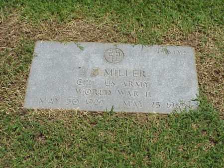 MILLER (VETERAN WWII), J F - Pulaski County, Arkansas | J F MILLER (VETERAN WWII) - Arkansas Gravestone Photos