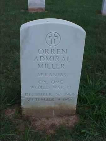 MILLER (VETERAN WWII), ORREN ADMIRAL - Pulaski County, Arkansas | ORREN ADMIRAL MILLER (VETERAN WWII) - Arkansas Gravestone Photos