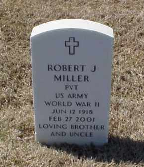 MILLER (VETERAN WWII), ROBERT J - Pulaski County, Arkansas | ROBERT J MILLER (VETERAN WWII) - Arkansas Gravestone Photos