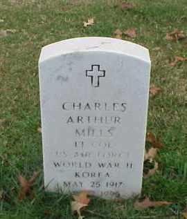 MILLS (VETERAN 2 WARS), CHARLES ARTHUR - Pulaski County, Arkansas | CHARLES ARTHUR MILLS (VETERAN 2 WARS) - Arkansas Gravestone Photos