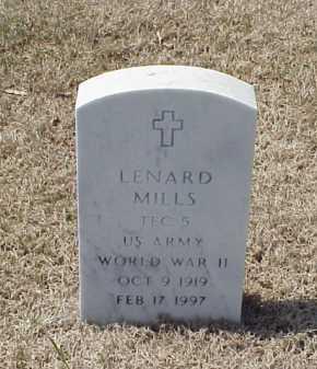 MILLS (VETERAN WWII), LENARD - Pulaski County, Arkansas | LENARD MILLS (VETERAN WWII) - Arkansas Gravestone Photos