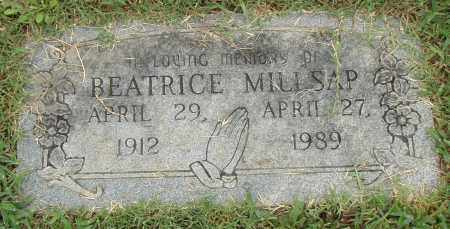 MILLSAP, BEATRICE - Pulaski County, Arkansas | BEATRICE MILLSAP - Arkansas Gravestone Photos