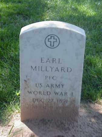 MILLYARD (VETERAN WWI), EARL - Pulaski County, Arkansas | EARL MILLYARD (VETERAN WWI) - Arkansas Gravestone Photos