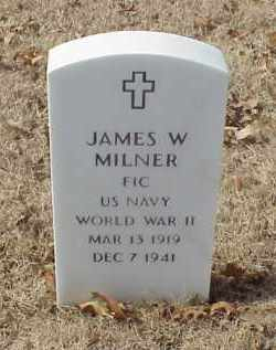 MILNER (VETERAN WWII), JAMES WILLIAM - Pulaski County, Arkansas | JAMES WILLIAM MILNER (VETERAN WWII) - Arkansas Gravestone Photos
