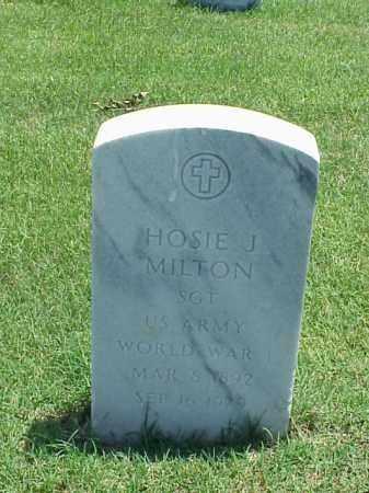 MILTON (VETERAN WWI), HOSIE J - Pulaski County, Arkansas | HOSIE J MILTON (VETERAN WWI) - Arkansas Gravestone Photos