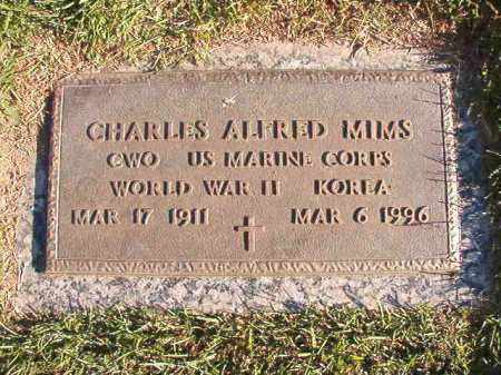 MIMS (VETERAN 2 WARS), CHARLES ALFRED - Pulaski County, Arkansas | CHARLES ALFRED MIMS (VETERAN 2 WARS) - Arkansas Gravestone Photos