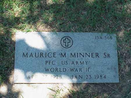 MINNER, SR (VETERAN WWII), MAURICE M - Pulaski County, Arkansas | MAURICE M MINNER, SR (VETERAN WWII) - Arkansas Gravestone Photos