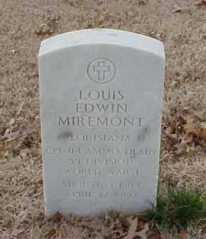 MIREMONT  (VETERAN WWI), LOUIS EDWIN - Pulaski County, Arkansas | LOUIS EDWIN MIREMONT  (VETERAN WWI) - Arkansas Gravestone Photos