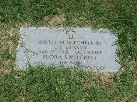 MITCHELL, SR (VETERAN KOR), BIRTEE M - Pulaski County, Arkansas | BIRTEE M MITCHELL, SR (VETERAN KOR) - Arkansas Gravestone Photos