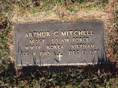 MITCHELL (VETERAN 3 WARS), ARTHUR C - Pulaski County, Arkansas | ARTHUR C MITCHELL (VETERAN 3 WARS) - Arkansas Gravestone Photos